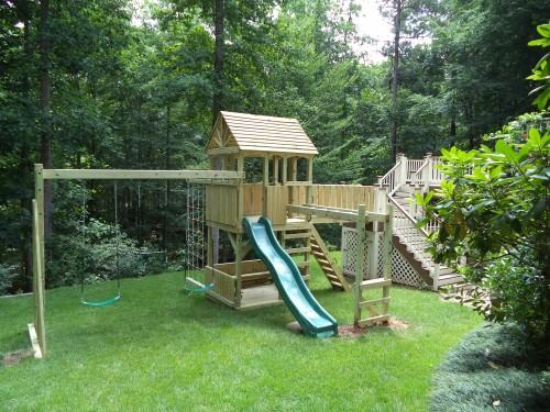 Backyard Playground Custom Wooden Swing Sets Amp Playsets